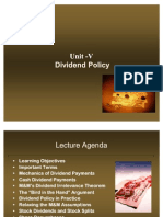 Chapter 22 - Dividend Policy (1)