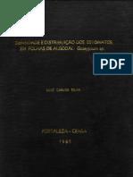 Densidade e Distribuição dos Estomatos em Folhas de (Gassypium sp.).