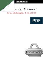 Schlage P513-325 Rekeying Manual