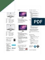 PC de Escritorio Apple IMAC MC510EA brochure(español)