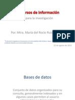 Recursos de información en Investigación