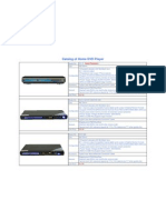 Catalog of Home DVD Player