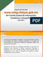 Reporte de estadísticas del sitio del CEIEG enero-julio 2011
