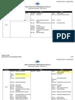 Final Exam Schedule Fall Semester 2011 12 v1.1