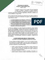 PROGRAMA DE GOBIERNO JUAN GUILLERMO BELTRAN AMORTEGUI