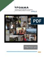 Memoria Plataforma de Organizaciones Sociales _Cartagena 8 11 Marzo 2011