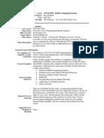 UT Dallas Syllabus for cs6392.001.11f taught by Ravi Prakash (ravip)