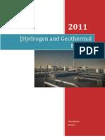 Geothermal&Hydrogen Energy