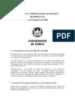 deliberação do senado da Universidade de Lisboa