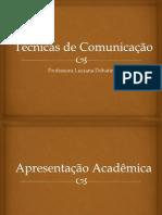 TECNICAS DE COMUNICAÇÃO ORAL