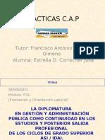 Práctica CAP. Febrero 2008