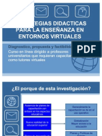 Estrategias Didactic As Para La Enseanza en Entornos Virtuales 6334