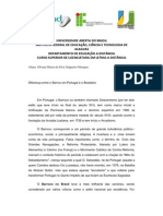 Diferença entre o Barroco brasileiro e o de Portugal