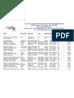 Friendship House-MSU Fall 2011 Class Schedule