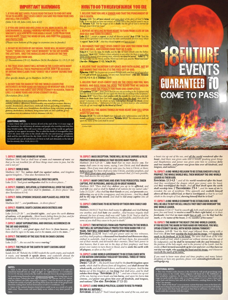 18 Future Events Guaranteed to Come to Pass | Sin | Repentance