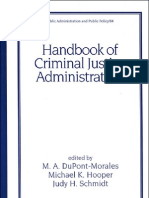 Handbook of Criminal Justice Administration