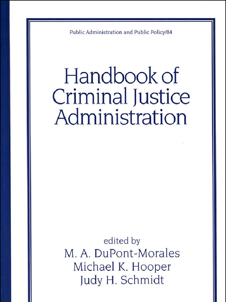 handbook of criminal justice administration plea bargain