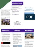 TCU Washington D.C. internship program brochure