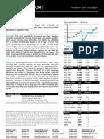 Australian Dollar Outlook 25 August 2011