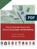 Anteproyecto del Plan de Desarrollo Urbano de la Zona Conurbada de Monterrey