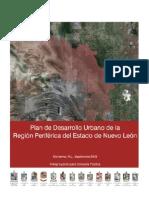 Anteproyecto del Plan de Desarrollo Urbano de la Región Periférica de Nuevo León