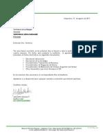 F-107  CARTA SOLICITUD DOCUMENTOS REVISIÓN DOCUMENTAL NCH 2909 REV01 REV 03