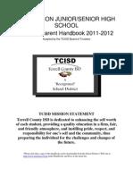 2011-2012 SHS-SJH Student Handbook