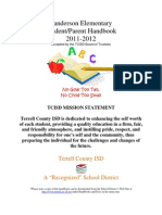 2011-2012 Sanderson Elementary Handbook