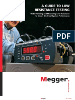 Megger a 20Guide 20to 20Low 20 Resistance 20Testing