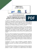 prensa Defensoría fronteras 17-08-2011