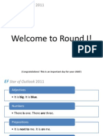 Welcome to Round I