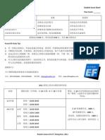 Round II Score Sheet - Chinese