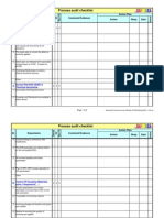 Process Audit Checklist