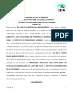 Con-167-09 Convenio de Uso de Terreno Ida-ice p h Diquis