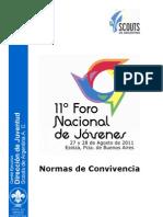 2. 11º FNJ - Normas de Convivencia