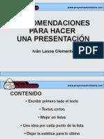 Recomendaciones para hacer una presentación de diapositivas