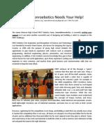 2008 FRC Fundraising Letter - Team 2402