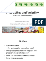 Price spikes and volatility (The new face of global agriculture)