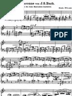 Bach Chaconne Brahms Etude No.5