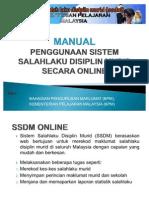 Manual Pengguna Sekolah SSDM SISTEM SALAHLAKU DISIPLIN MURID