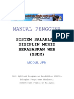 Manual Ssdm new JPN Updated SISTEM SALAHLAKU DISIPLIN MURID