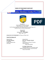 3350. Report on Praradise Holiday India Pvt. Ltd. [Tourism]
