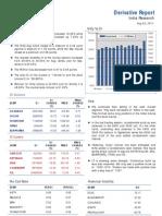 Derivative Report 25th August 2011