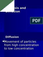 Osmosis and Diffusion