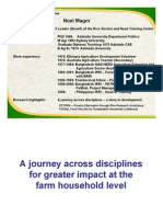 A journey across disciplines for greater impact at the farm household level