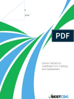 Certificate IV in Training and Assessment Handbook