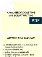 Radio Broadcasting and Script Writing Ppt