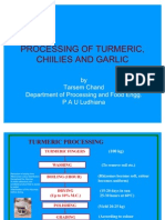 Processing of Turmeric, Chiilies and Garlic