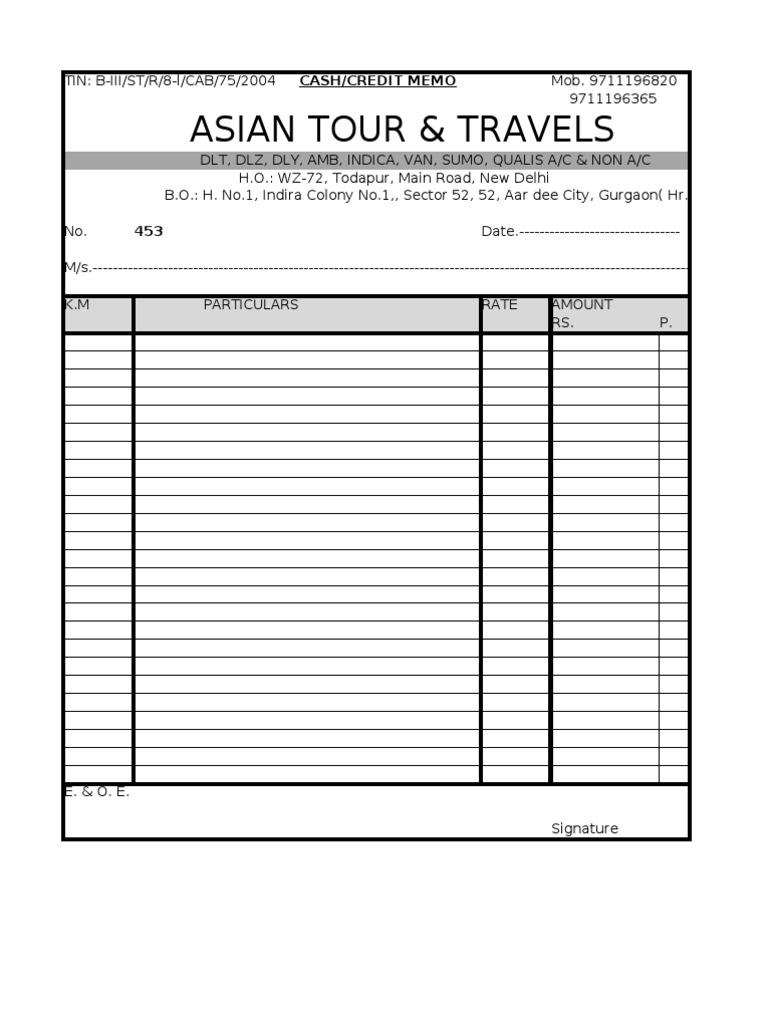 standard receipt template word