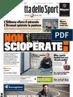La Gazzetta dello sport del 25 agosto 2011